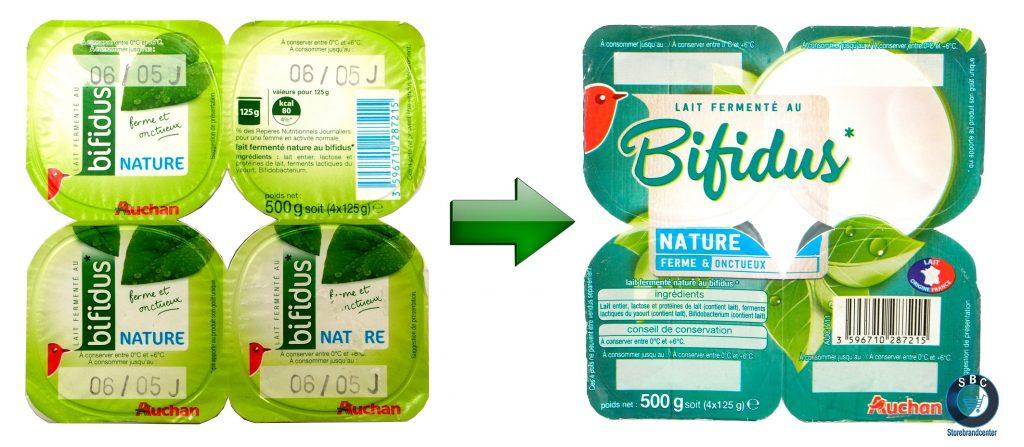auchan bifidus new packaging auchan mdd storebrandcenter.com marque de distributeur