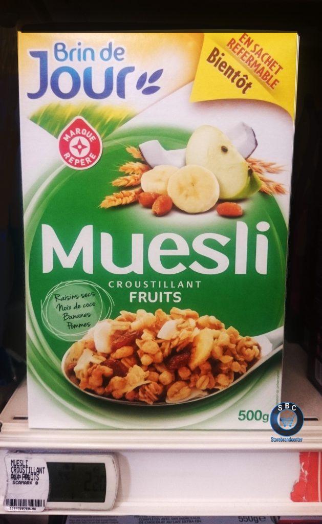 packaging mdd e.leclerc marque de distributeur cereale old brin de jour
